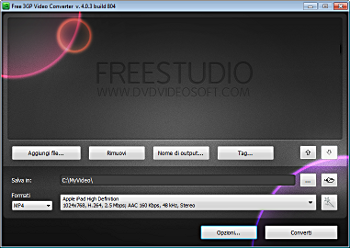 Free 3GP Video Converter: avvia il programma