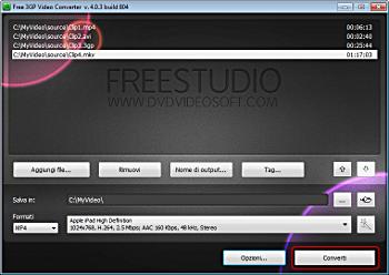 Free 3GP Video Converter: converti video
