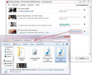 Free YouTube to MP3 Converter: seleziona le impostazioni